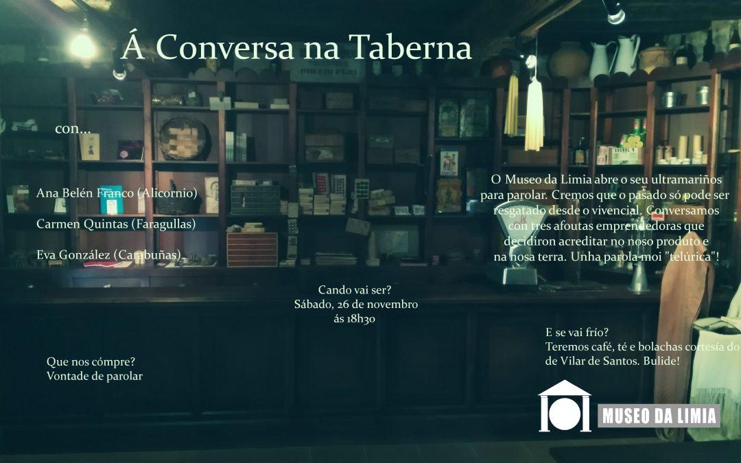 """Sábado 26 de novembro ás 18h30 temos """"conversa"""" na Taberna"""