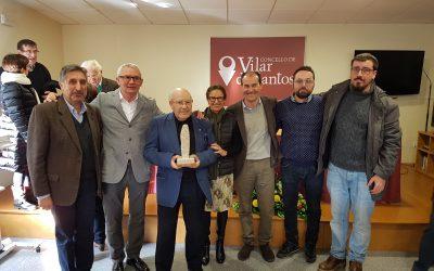 Apoio do Museo da Limia ao outorgamento da medalla de ouro da Provincia, a Dº Elixio Rivas Quintas